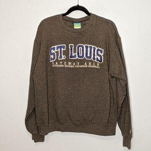 Champion Men's Large St Louis Graphic Sweatshirt